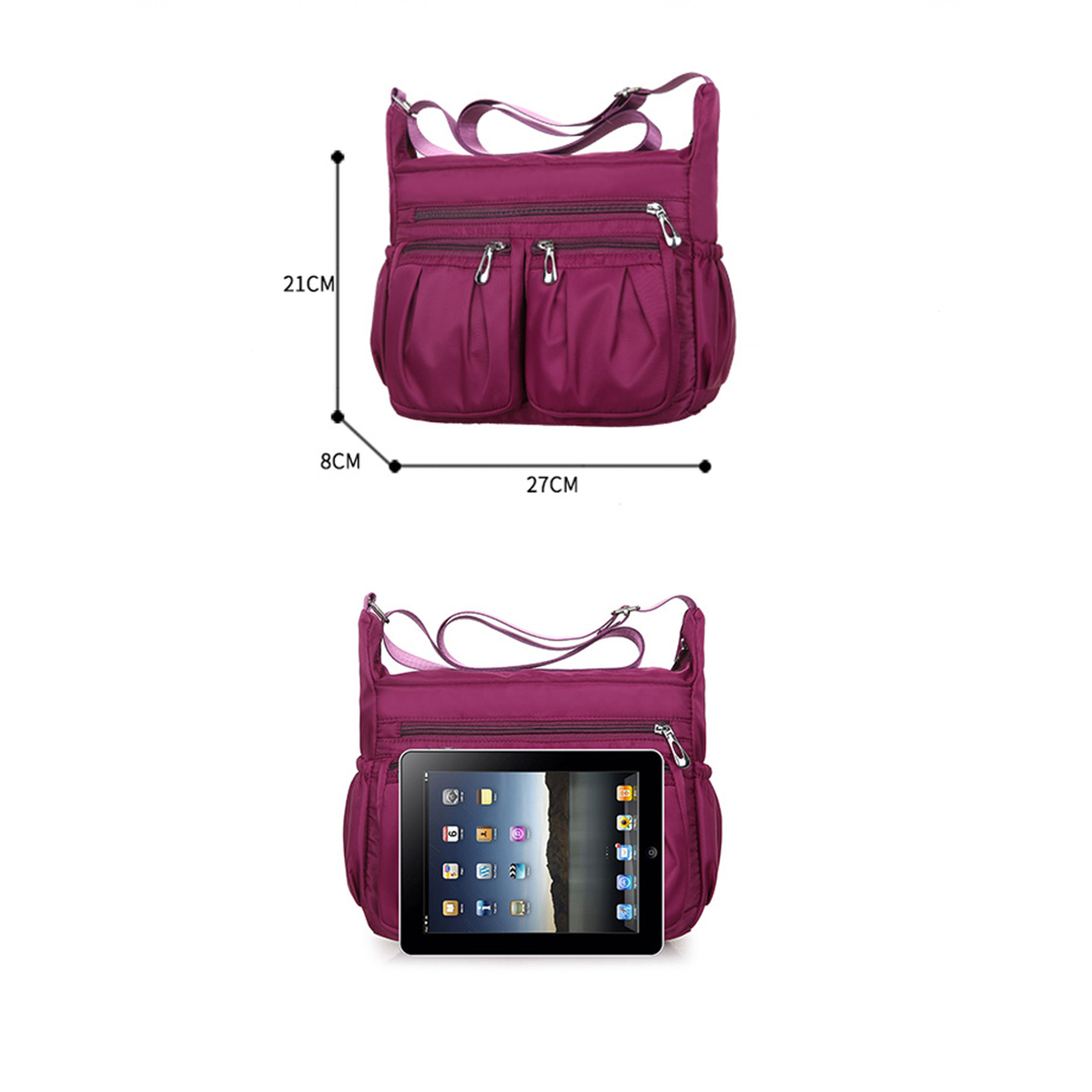 Waterproof Fashion Nylon Messenger Crossbody Bag MT0022