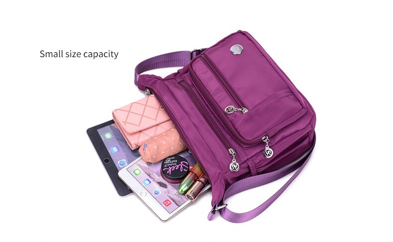 Decent Waterproof Nylon Crossbody Shoulder Bag MT0049
